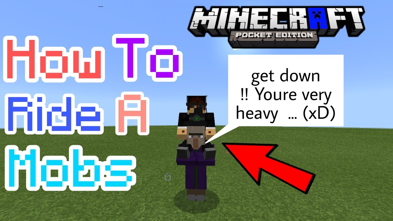 HOW TO RIDE A MOBS MCPE | Minecraft PE by Noob Craft