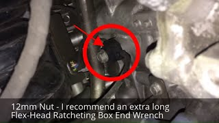 Actual location of the Knock Detonation Sensor in a 2012 Hyundai Accent SE