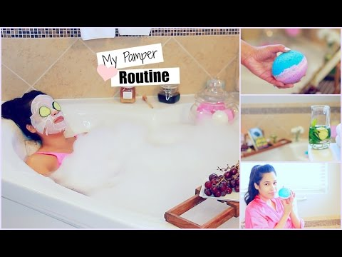 My Pamper Routine - Spa Night - DIY Lush Bath Bomb,  Detox Water -  MissLizHeart