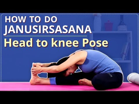 How To Do Head To Knee Pose | JANU SIRSASANA FOR BEGINNERS | Simple Yoga Lessons | YOGA VIDEO