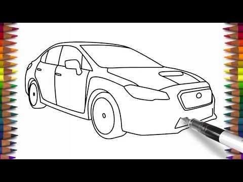 How To Draw Subaru Impreza WRX Easy Car Drawing