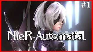 NieR: Automata Amazing Gameplay (PC) - Abandoned Factory VS Goliath - Chapter 1