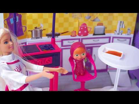 Barbie Masak Memasak Barbie Mainan Anak Perempuan Barbie Dapur Barbie Cooking Toys Youtube