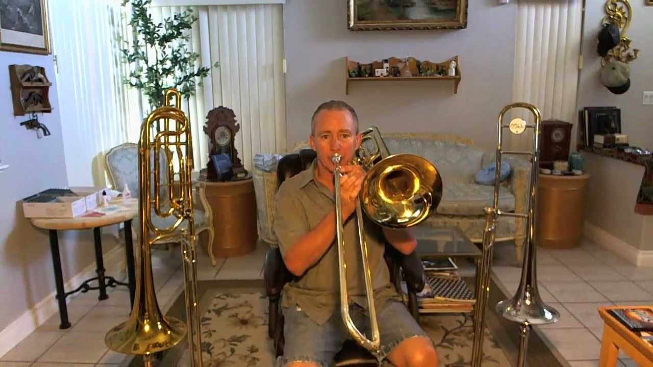 King Duo Gravis Conn 73H bass trombone paint peeling competition