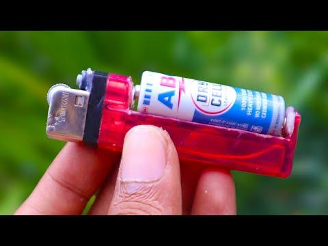 upgrade korek gas menjadi korek api elektrik / turn the gas lighter into an electric one