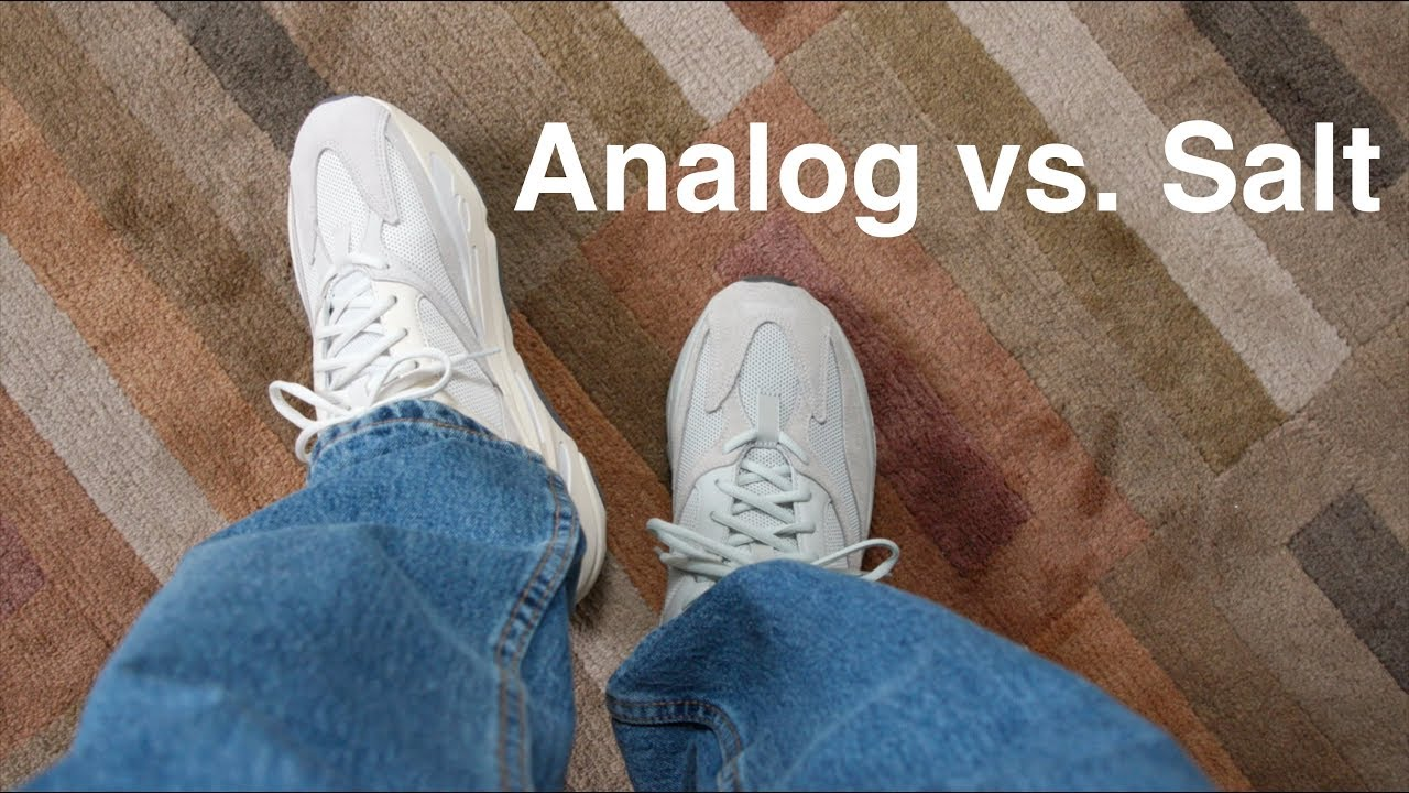 half off 7c925 bc547 Yeezy 700 Analog vs. Salt
