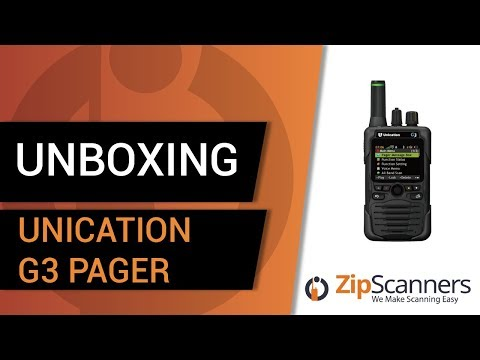 Unication G3 Pager   Unboxing