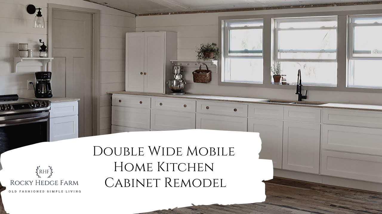 Double Wide Mobile Home Kitchen Remodel Our New Lily Ann Cabinets Youtube