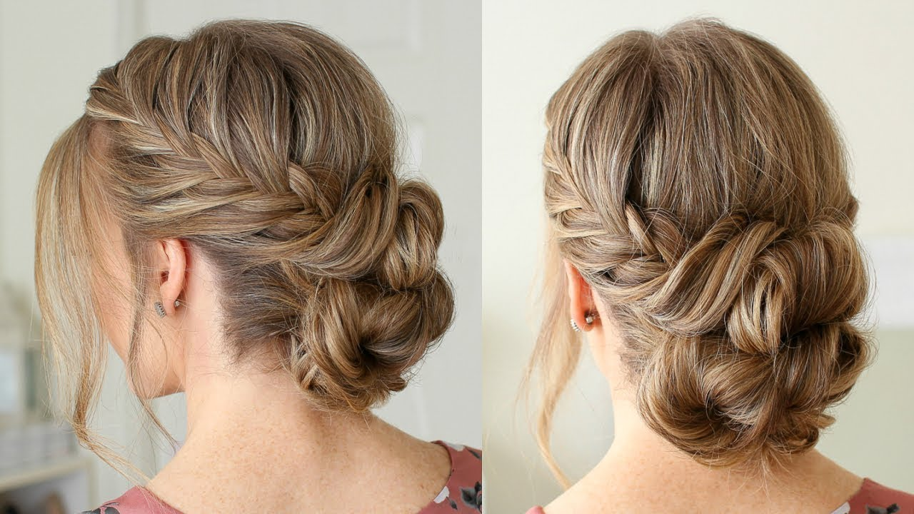 Fishtail French Braid Double Bun | Missy Sue - YouTube