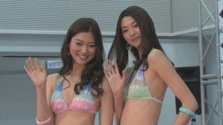 旭化成グループの水着素材発表会が13日都内で行われ、今回で37代目...