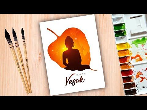 गौतम बुद्ध जी का ड्राइंग / Gautam Buddha Drawing / happy Vesak painting easy