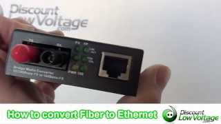 How To Convert Fiber To Ethernet