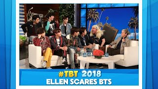 #TBT to Ellen Scaring BTS Band Members