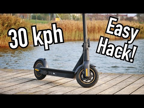 How To: NOT SO Easy Unlock 30 Kph TOP SPEED On NINEBOT MAX (1.2.5) Kickscooter - Old Method ES2 Dash