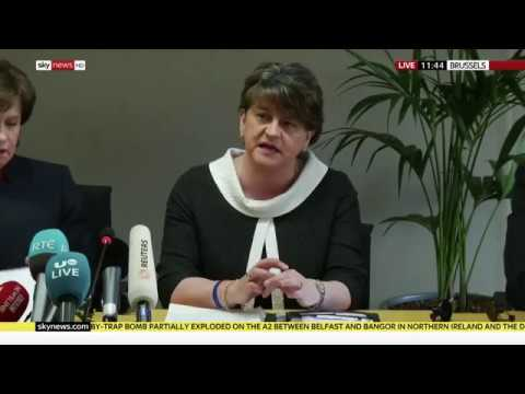 DUP leader Arlene Foster on her meeting with Michel Barnier in Brussels