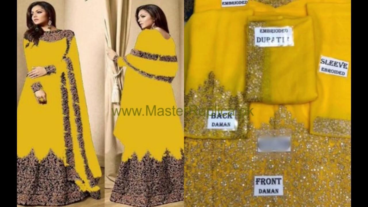2079b69bdb Latest Chiffon Designer Master Replicas | Latest Pakistani Fancy Dresses  Winter Collection