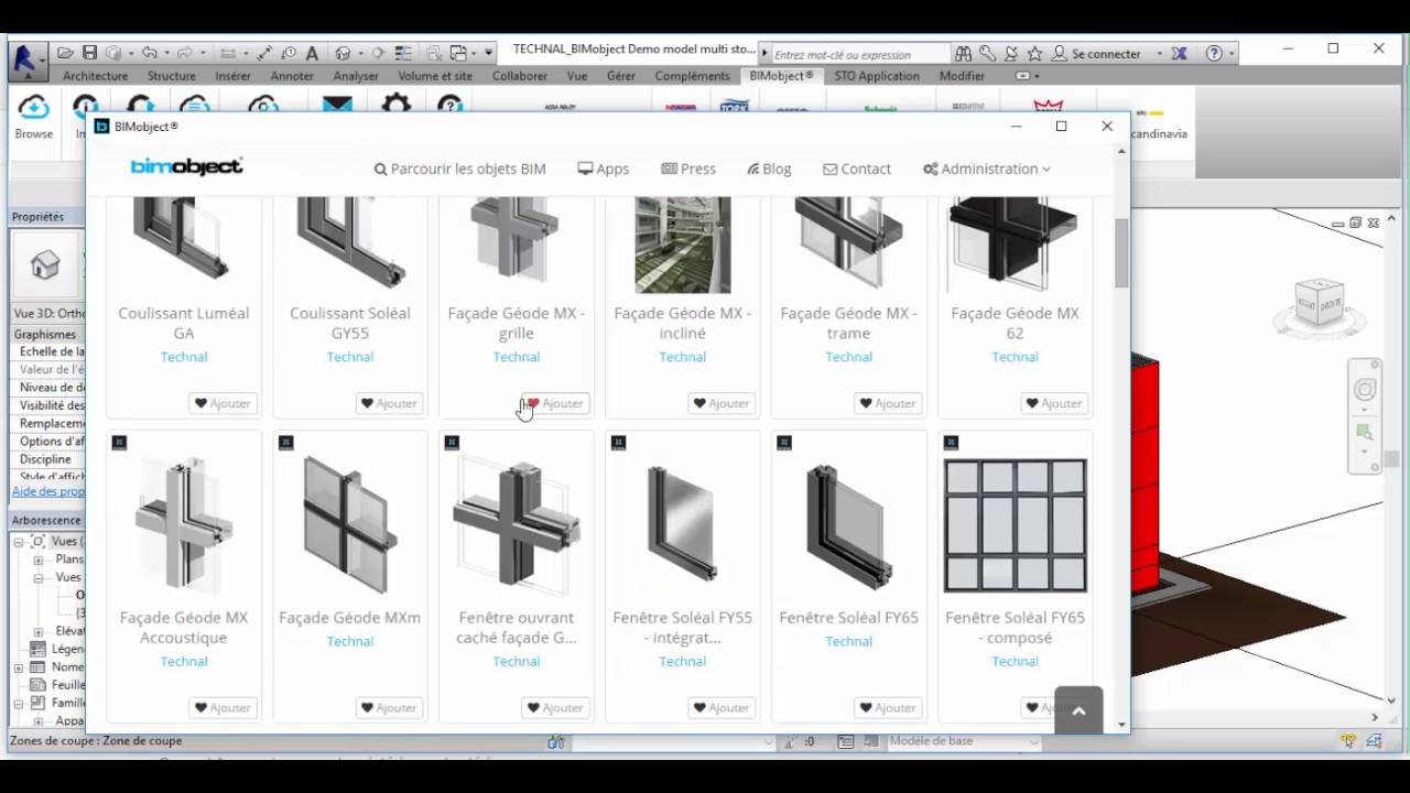 technal for revit french