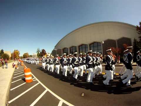 Va Tech Corps Of Cadets Marching to Lane Stadium Oct 8, 2011