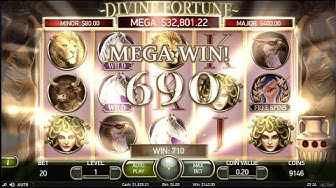 Divine Fortune Jackpot Bonus and Big Wins ($4 bets) SugarHouse online slots