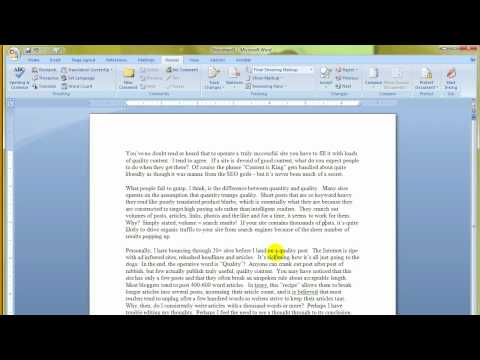 MS Word 2007   Spelling And Grammar