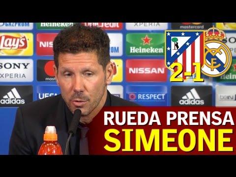 Atlético 2-1 Real Madrid | Rueda de prensa de Simeone | Diario AS