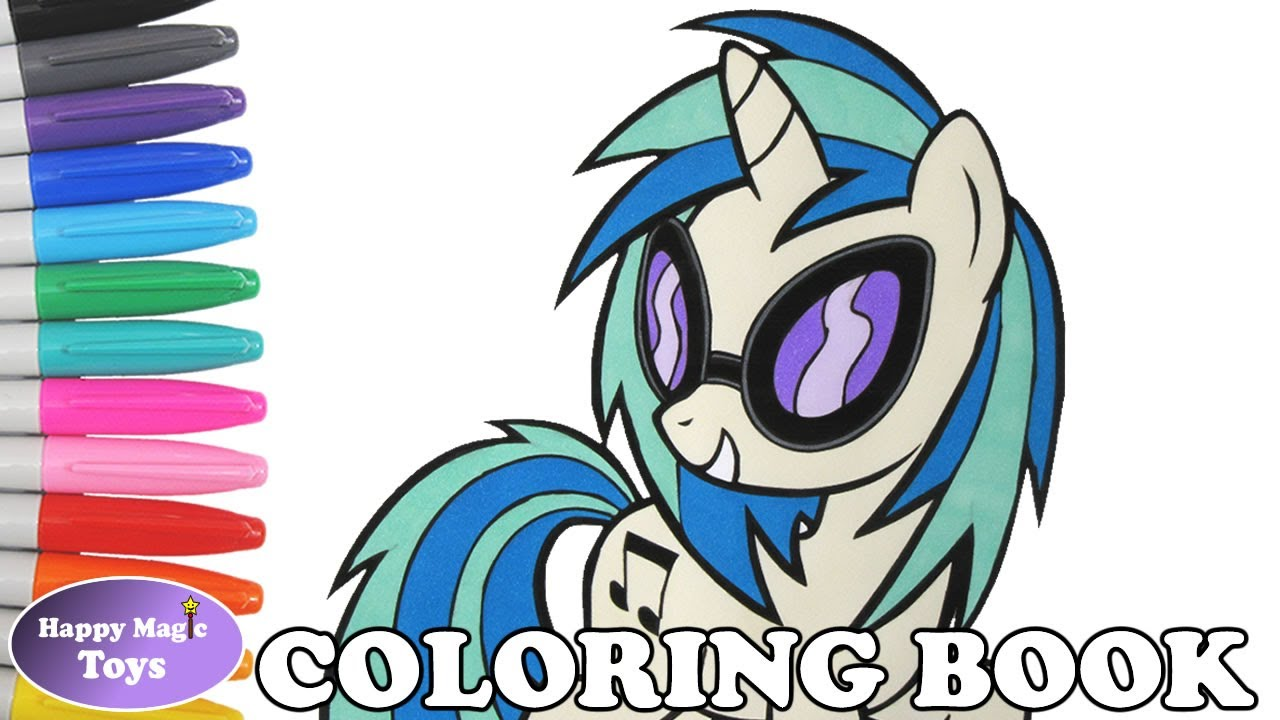 Mlp coloring pages dj pon 3 - Dj Pon 3 Coloring Book Page Mlp My Little Pony Dj Pon 3 Coloring Page For Kids Art