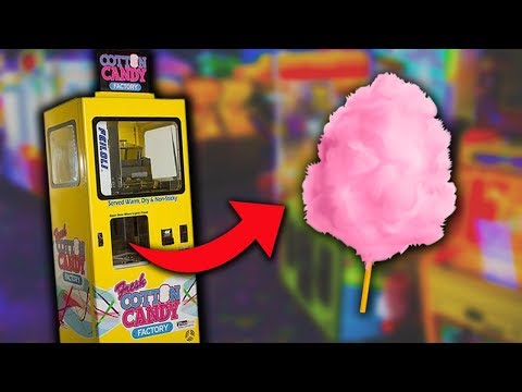 I FOUND A COTTON CANDY VENDING MACHINE!!