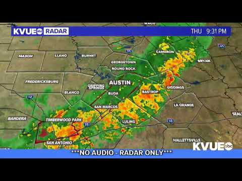Weather Map Of Texas LIVE: Weather radar as cold front moves into Central Texas | KVUE
