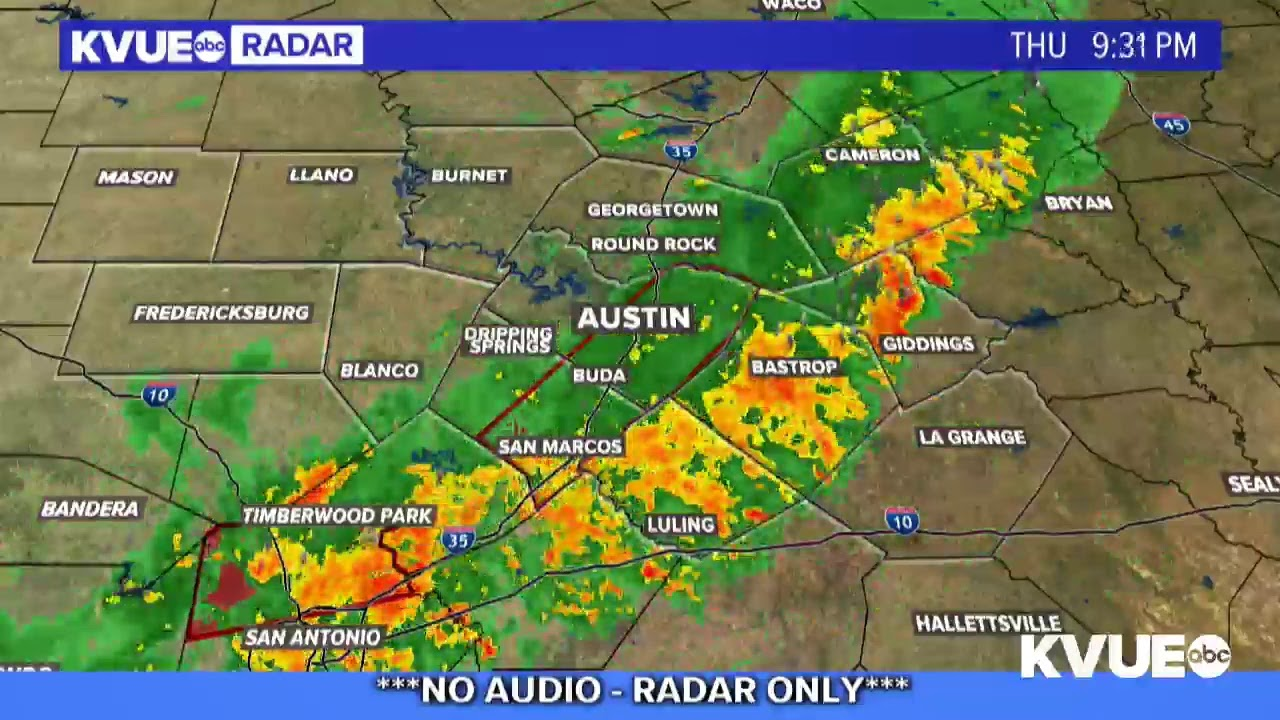 Texas Weather Map LIVE: Weather radar as cold front moves into Central Texas | KVUE