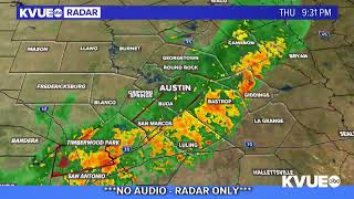 A cold front is moving into the region, bringing potentially heavy rain, large hail and gusty winds.full story: https://www.kvue.com/article/weather/austin-w...