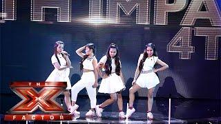 Live Shows? No Problem for 4th Impact | Live Week 1 | The X Factor 2015(Visit the official site: http://itv.com/xfactor 4th Impact take on Ariana Grande and Iggy Azalea's Problem for the first Live Show. SUBSCRIBE: http://bit.ly/TXFSub ..., 2015-10-31T22:17:05.000Z)