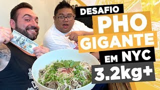 MASSIVE PHO challenge in NYC! (7 pounds+)