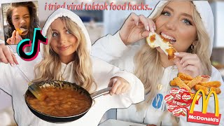 Trying VIRAL TikTok food hacks!! pt.2