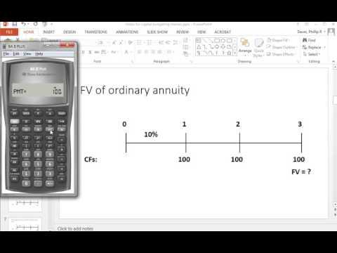BA II Plus FV of ordinary annuity