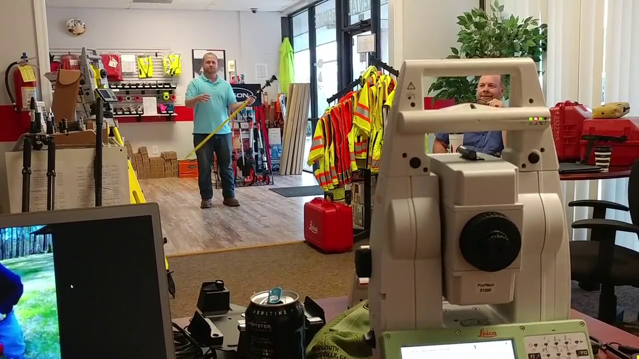 Leica Geosystems TS16 Robot Man this thing can track!