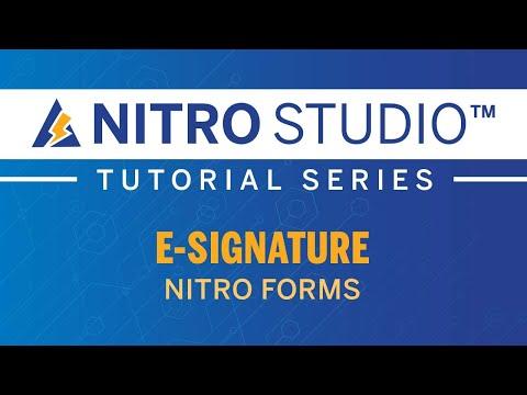 E-Signature in NITRO