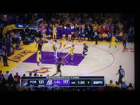 LAKERS PORTLAND LEBRON CROSSOVER NASTY