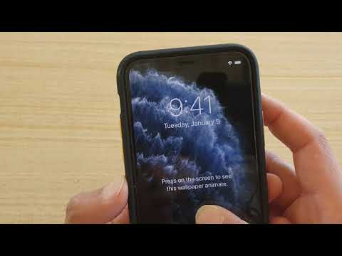 Iphone 11 Pro How To Change Wallpaper For Lock Screen Home Screen Youtube