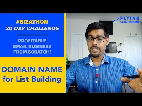 Brandable Domain Name for List Building & Easy WebHosting Setup - (Day 2/30) #Bizathon