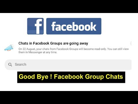 Chat In Facebook Groups Are Going Away On 22 August , Good Bye Facebook Group Chats