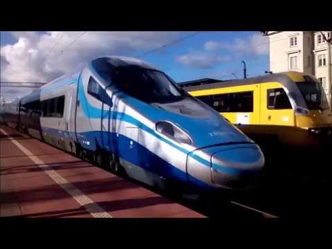 (100 FILM) Pociągi PKP Intercity na stacji Gdynia Główna (godz 6:00 - 18:30)