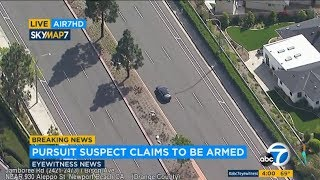 Possibly armed parolee leads authorities on chase through OC | ABC7