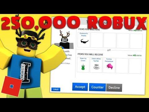 BIG TRADES!  250,000 ROBUX ITEM! | Roblox Trading