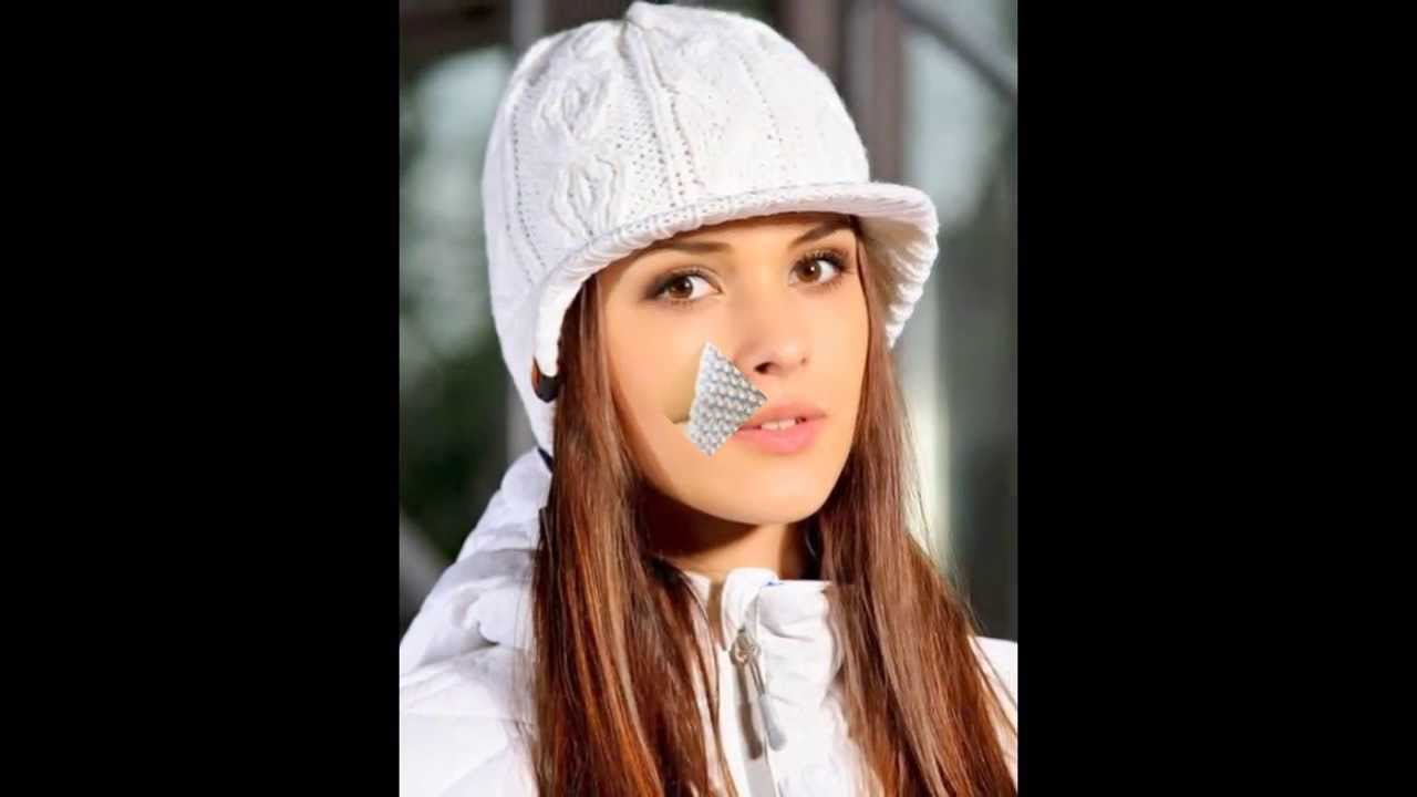 модные зимние женские вязаные шапки Youtube