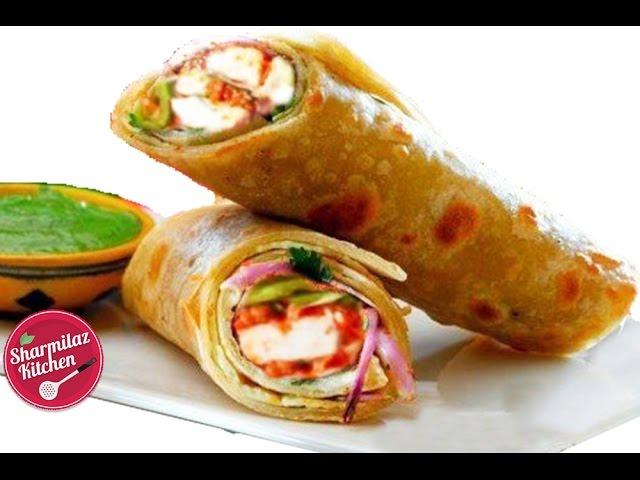 Paneer Kathi Roll – Kolkata Style Paneer Tikka Roll - Sharmilazkitchen