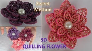 How to Make 3D Quilling Flower | Use these 2 things to Make Perfect 3D Quilling  Flower