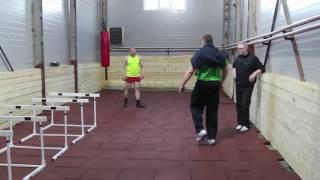 Толкание ядра, тренировка Дениса Ананьева с Андреем Михневичем ч 2