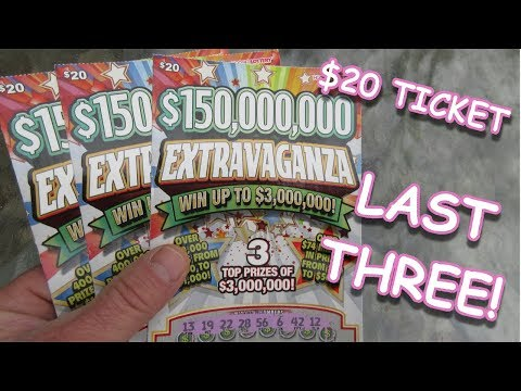"BOUGHT THE LAST THREE!!..$150,000,000 ""EXTRAVAGANZA"" SCRATCH OFF LOTTERY TICKET!!"