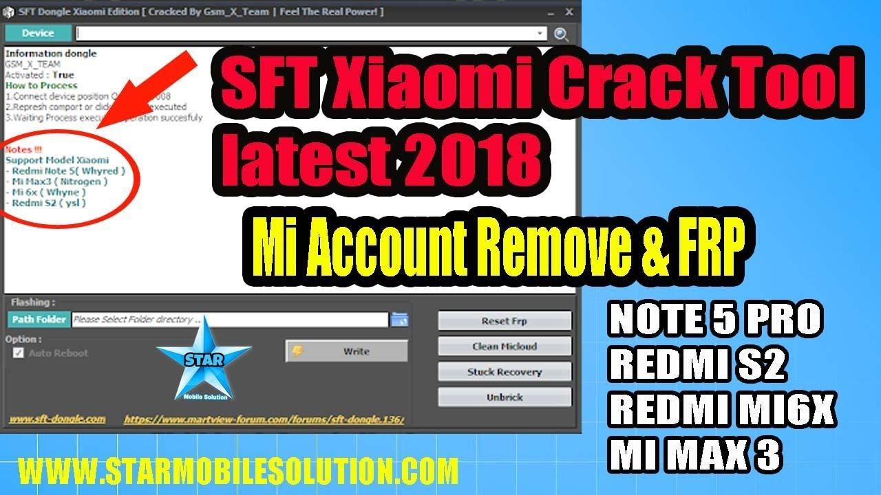 SFT Xiaomi Edition Crack Tool latest 2018 | Remove Mi