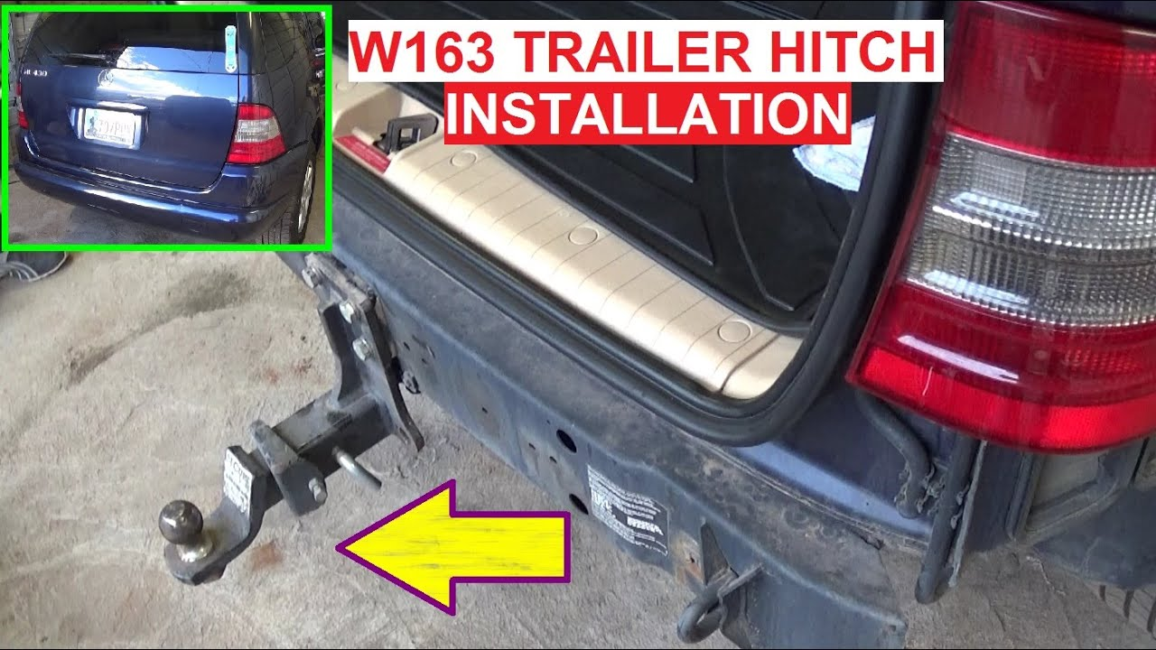 maxresdefault trailer hitch install on mercedes w163 ml320 ml430 ml230 ml270 2009 ml350 trailer wiring harness at webbmarketing.co